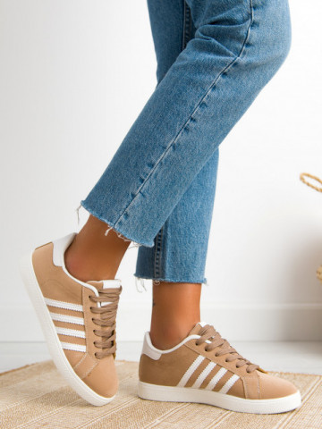 Pantofi sport cod 472 Beige/White
