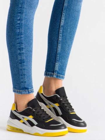 Pantofi sport cod 602 Black/Yellow