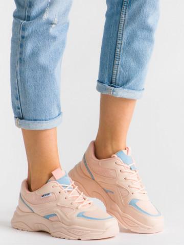 Pantofi sport cod 6807 Pink