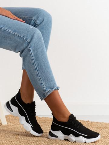 Pantofi sport cod 86001 Black/White