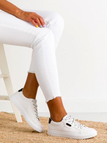 Pantofi sport cod A2331 White/Black