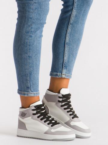 Pantofi sport cod AJ18 White/Grey