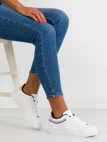 Pantofi sport cod BO686 White/Black