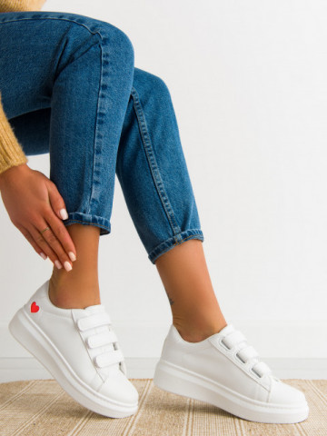 Pantofi sport cod C257 White/Red