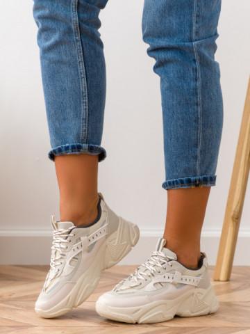 Pantofi sport cod E600 Beige