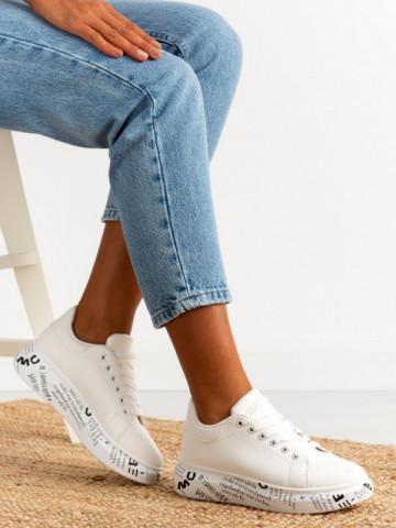 Pantofi sport cod J1856 White