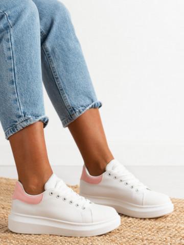 Pantofi sport cod J1860 White/Pink