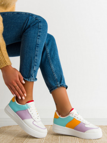 Pantofi sport cod R698 White/Purple