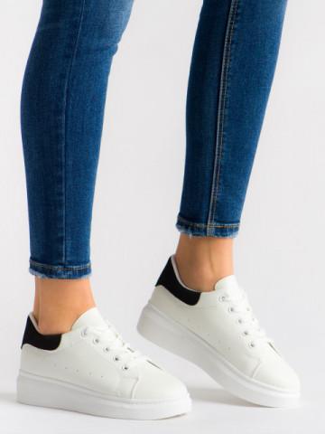 Pantofi sport cod T01 White/Black