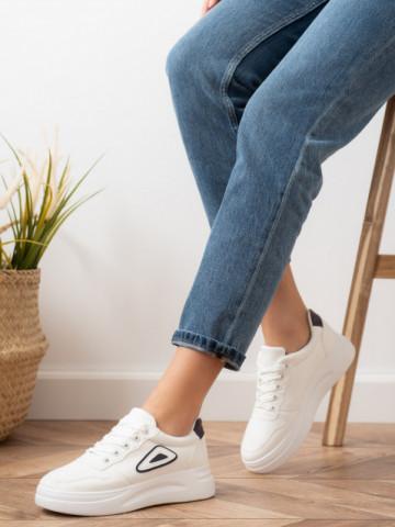 Pantofi sport cod T13 White/Black