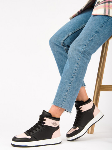 Pantofi sport imblaniti cod AJ30 Black/Pink