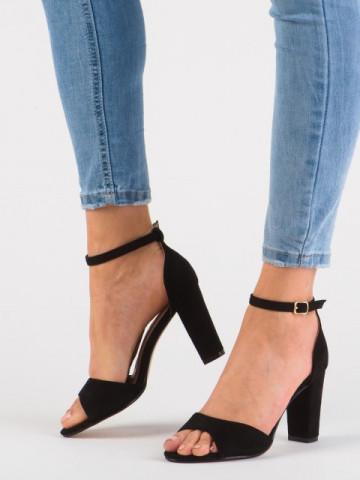 Sandale cu toc 8619-2A Black
