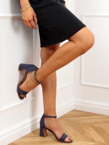 Sandale cu toc cod 8741 Blue