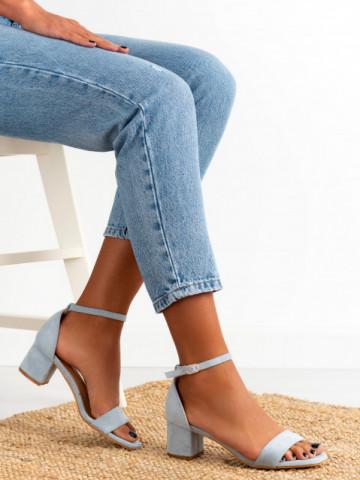 Sandale cu toc cod 8833 Blue