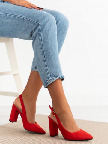 Sandale cu toc cod 9R25 Red