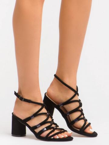 Sandale cu toc cod BL00094 Black