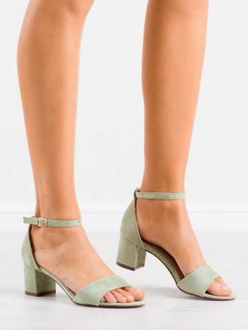 Sandale cu toc cod F188 Green