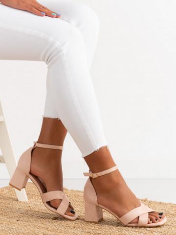 Sandale cu toc cod GG100 Pink