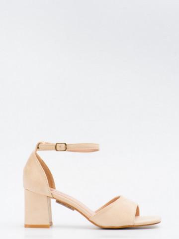 Sandale cu toc cod GG101 Beige