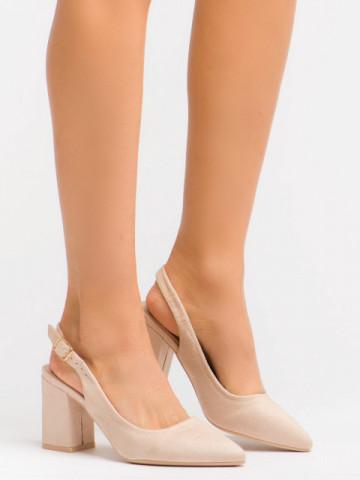 Sandale cu toc cod GG83 Beige