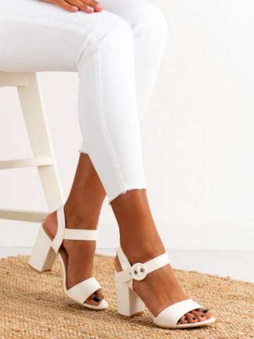 Sandale cu toc cod H783 White