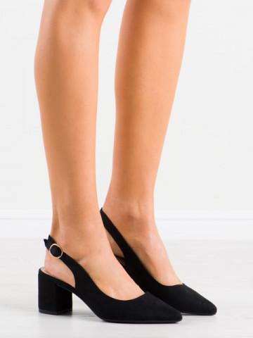 Sandale cu toc cod LL206 Black