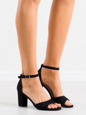 Sandale cu toc cod LL208 Black