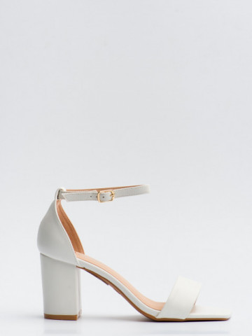 Sandale cu toc cod LL245 White