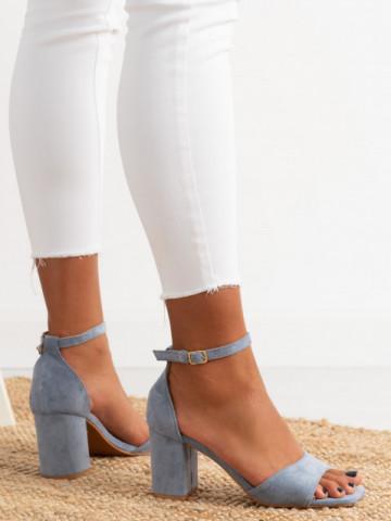 Sandale cu toc cod LL247 Blue