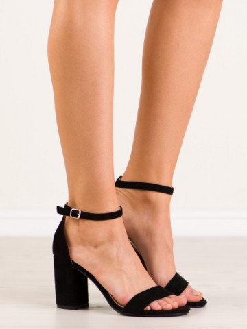 Sandale cu toc cod LT113 Black