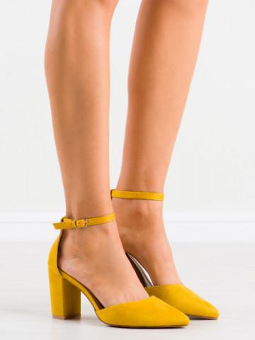 Sandale cu toc cod NC1007 Yellow