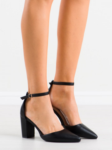 Sandale cu toc cod NC1010 Black
