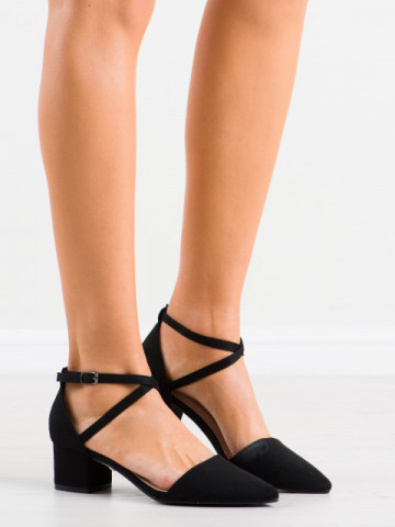 Sandale cu toc cod NF57 Black