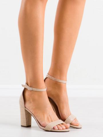 Sandale cu toc cod NF61 Beige