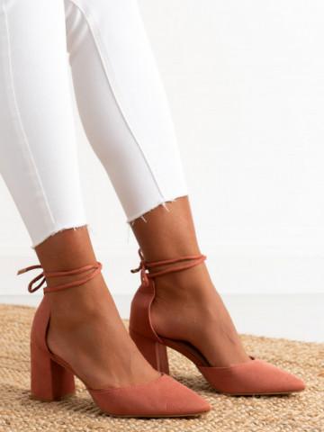 Sandale cu toc cod OD0221 Pink