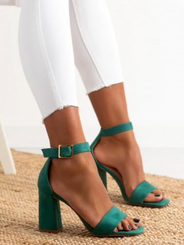 Sandale cu toc cod OD0227 Green