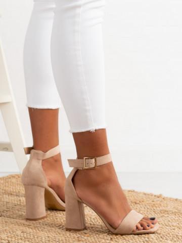 Sandale cu toc cod OD0227 Nude
