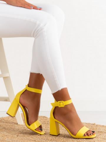 Sandale cu toc cod OD0228 Yellow