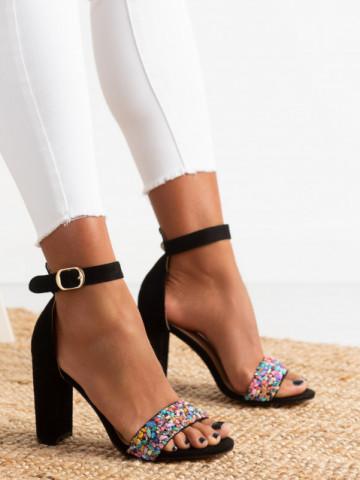 Sandale cu toc cod OD344 Black