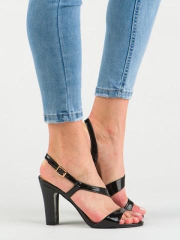 Sandale cu toc cod OS0801 Black