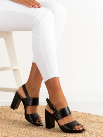 Sandale cu toc cod QL123 Black
