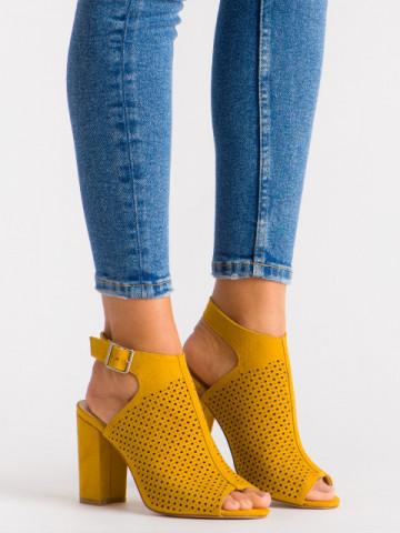 Sandale cu toc cod SH971 Yellow