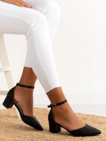 Sandale cu toc cod XQ263 Black