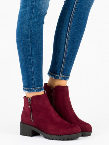 Botine cod L3058-20Y Wine Red