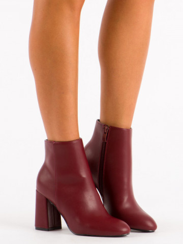 Botine cod OD0286 Wine Red
