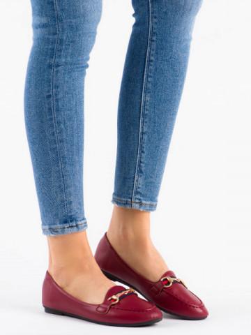 Pantofi casual cod 9F177 Burgundy