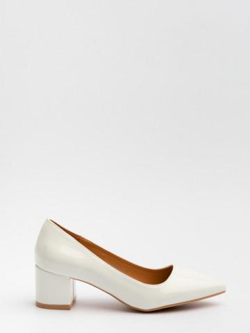 Pantofi cu toc cod 3839-2 White