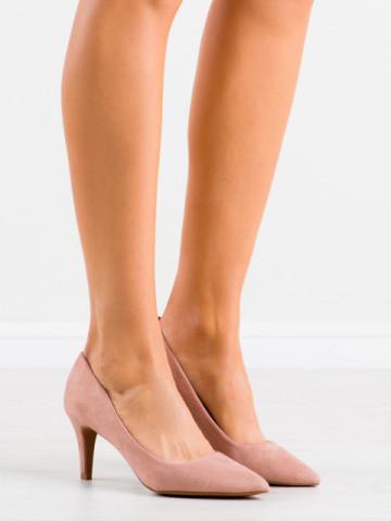 Pantofi cu toc cod 8F56 Pink