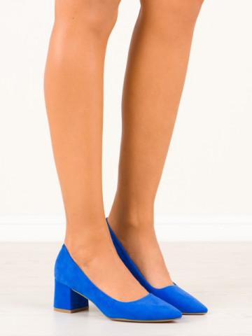 Pantofi cu toc cod CC210 Blue