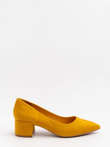 Pantofi cu toc cod LL81 Yellow